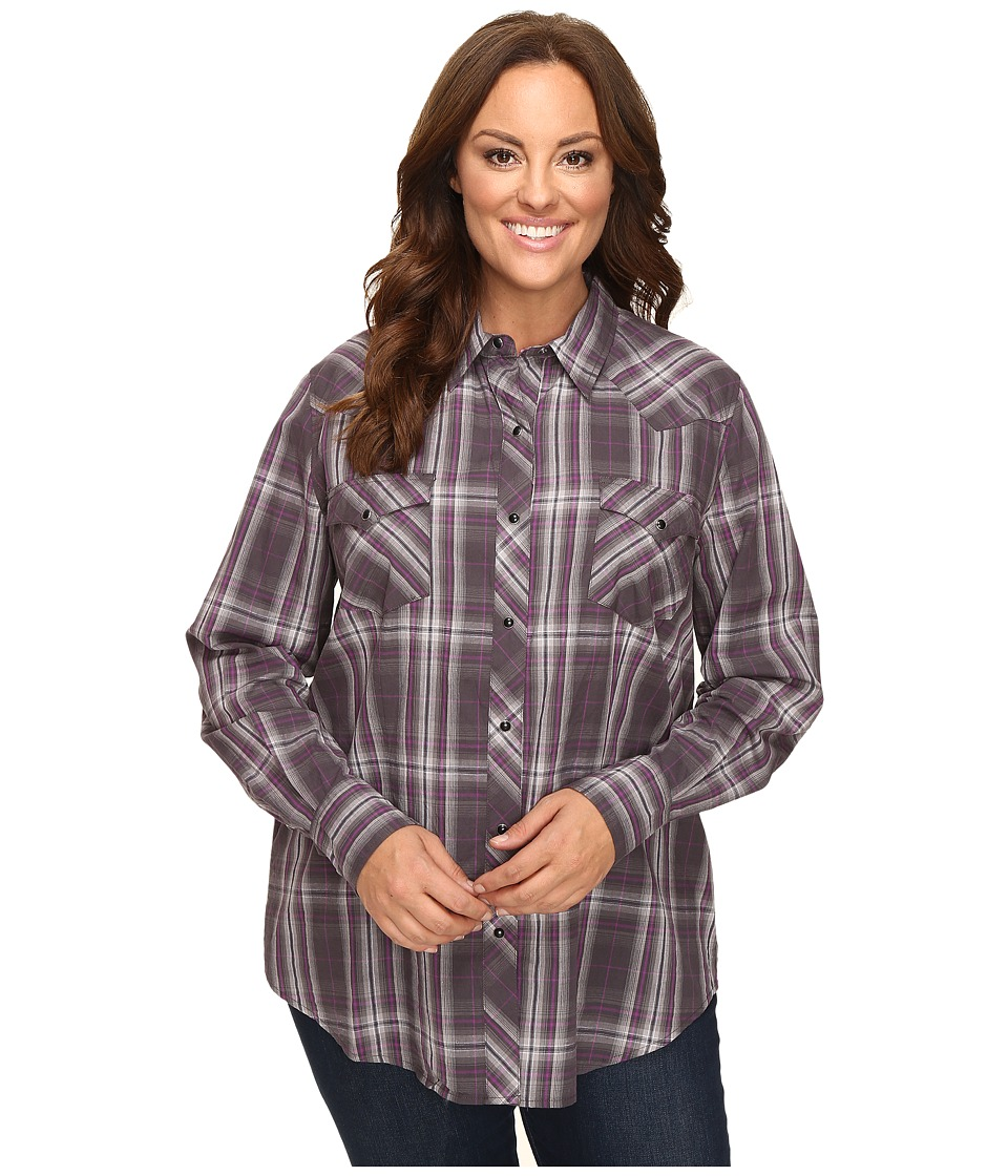 Roper - Plus Size 0434 Royal Plaid (Black) Women's Clothing