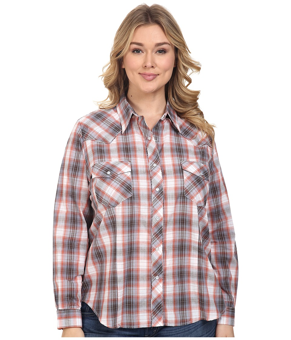 Roper - Plus Size 0382 Terra Plaid (Red) Women's Clothing