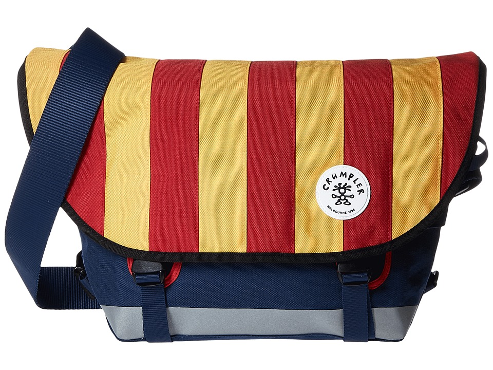 Crumpler - Barney Rustle Blanket Iconic Messenger Bag (Red/Gold) Messenger Bags