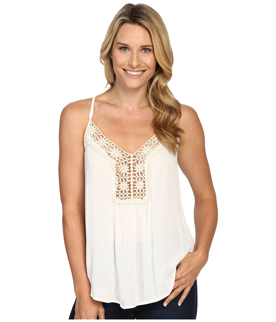 Roper - 0445 Crepe Top Cami (White) Women's Sleeveless