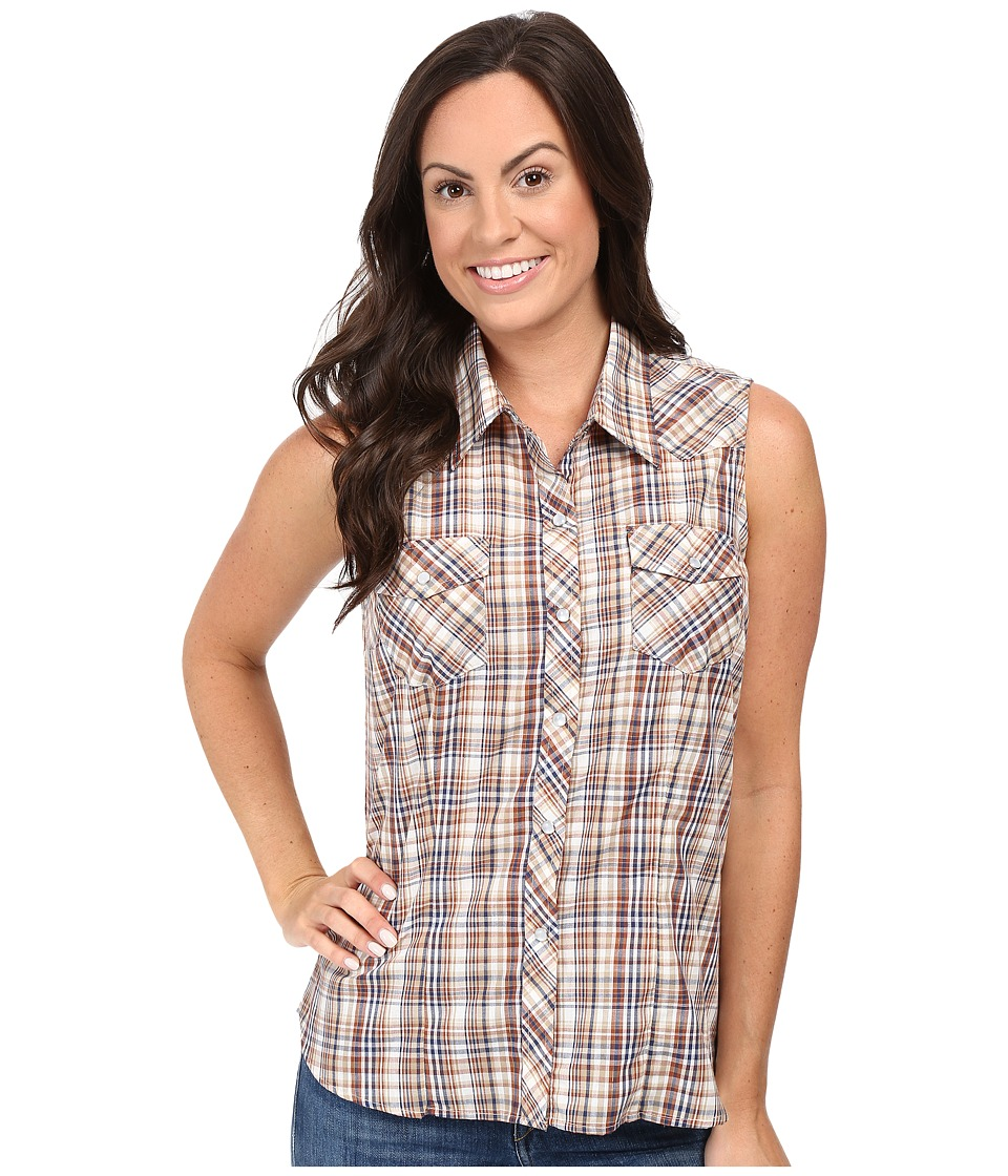 Roper - 0378 Earth Plaid (Brown) Women's Sleeveless