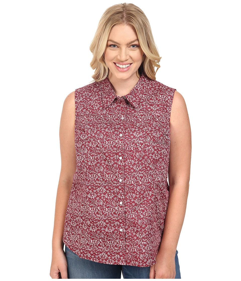 Roper - Plus Size 0393 Vintage Tapestry (Red) Women's Sleeveless