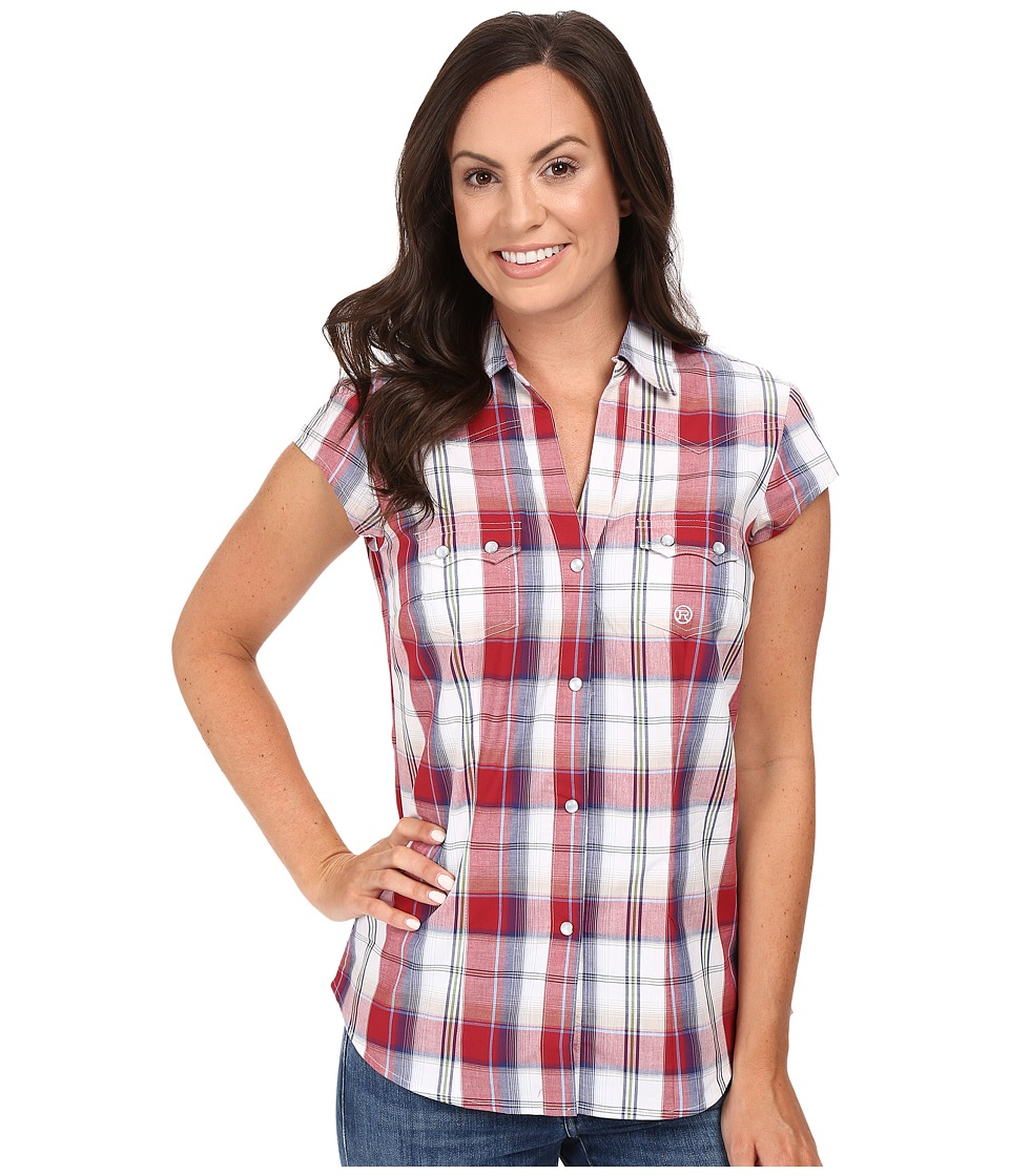 Roper - 0399 Marble Plaid (Red) Women's Clothing