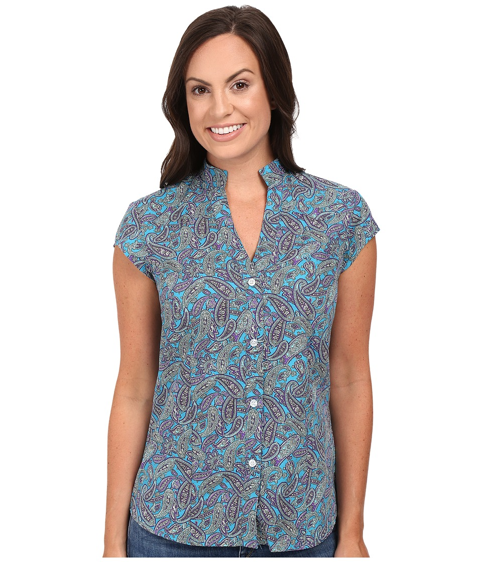 Roper - 0391 Antique Paisley (Blue) Women's Clothing