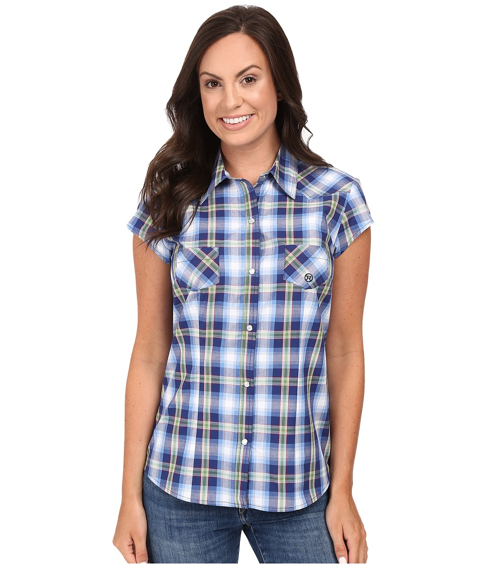 Roper - 0401 May Day Plaid (Blue) Women's Clothing