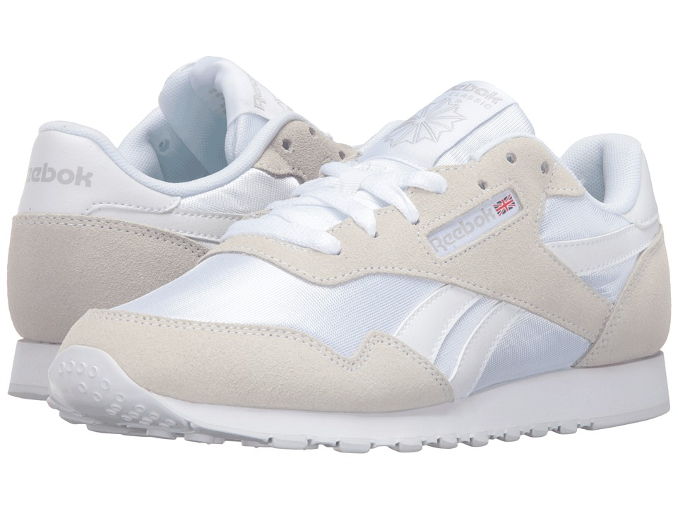 Reebok - Royal Nylon (White/White/Steel) Women's Shoes