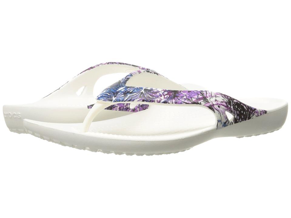 Crocs - Kadee II Floral Flip (Multi/White) Women's Sandals