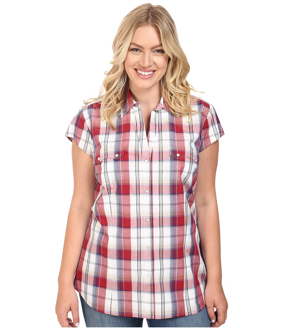Roper - Plus Size 0399 Marble Plaid (Red) Women's Clothing