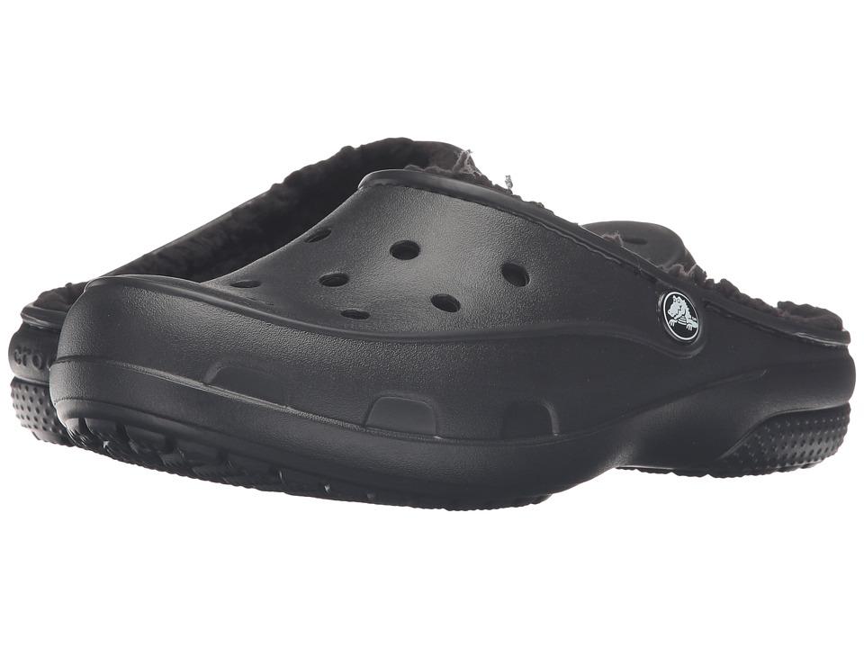 Crocs - Freesail Plush Lined Clog (Black/Black) Women's Clog Shoes