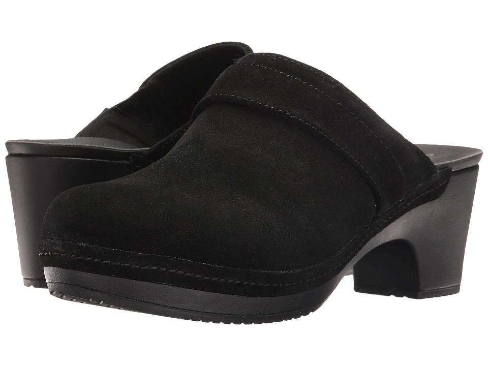 Crocs - Sarah Suede Clog (Black) Women's Clog Shoes