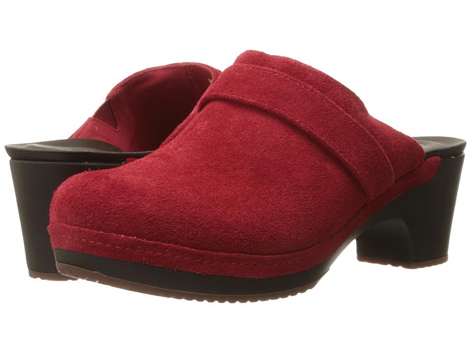Crocs - Sarah Suede Clog (Flame) Women's Clog Shoes