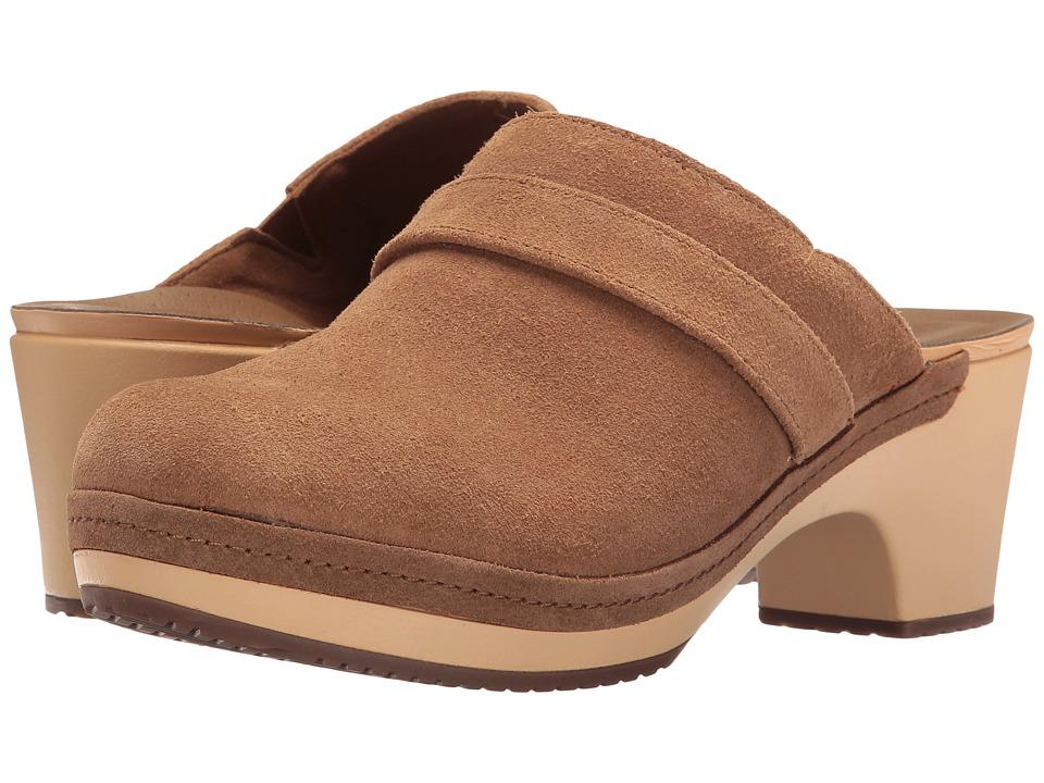 Crocs - Sarah Suede Clog (Hazelnut) Women's Clog Shoes