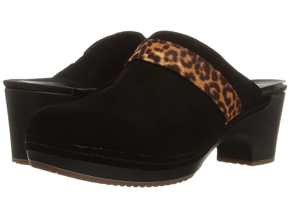 Crocs - Sarah Suede Clog (Leopard/Black) Women's Clog Shoes