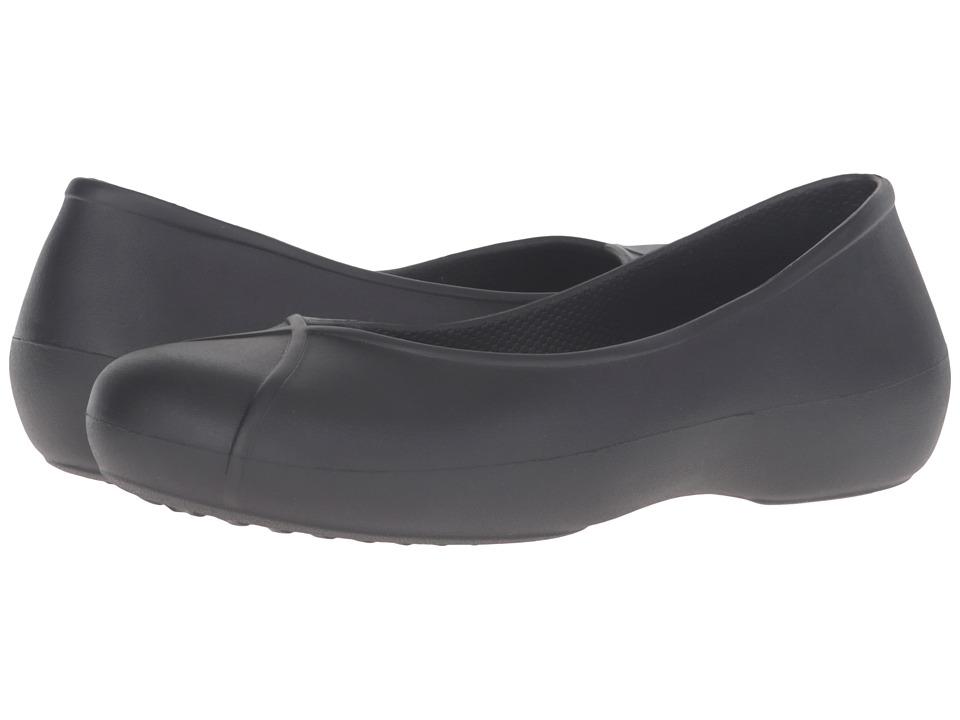 Crocs - Olivia II Lined Flat (Black) Women's Flat Shoes