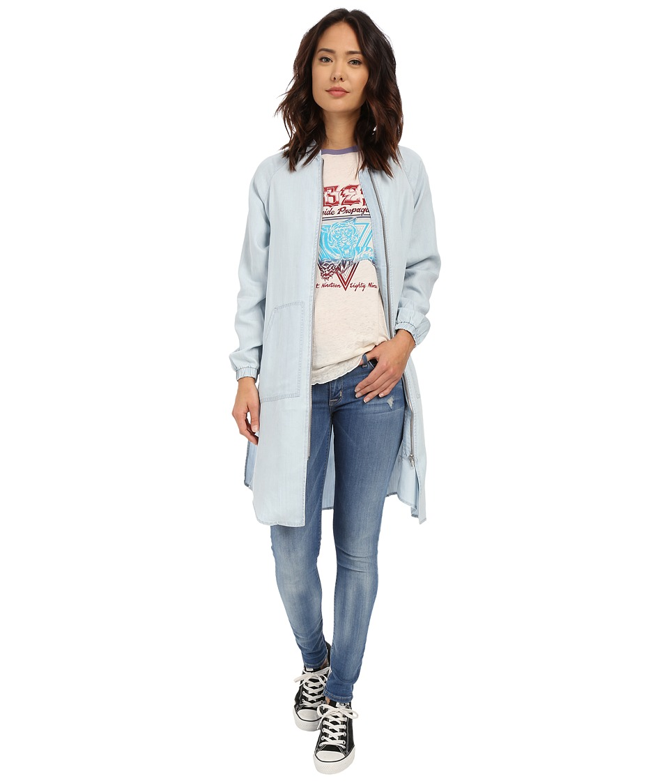 Obey - St. Gilles Bomber Jacket (Chambray) Women's Coat