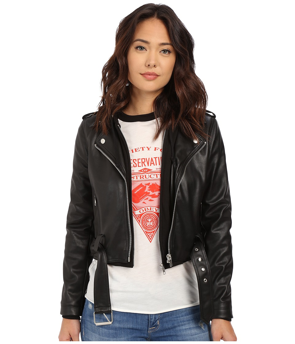 Obey - One Love Jacket (Black) Women's Coat