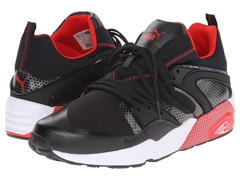 PUMA - Blaze of Glory Core (Black/High Risk Red) Men's Running Shoes