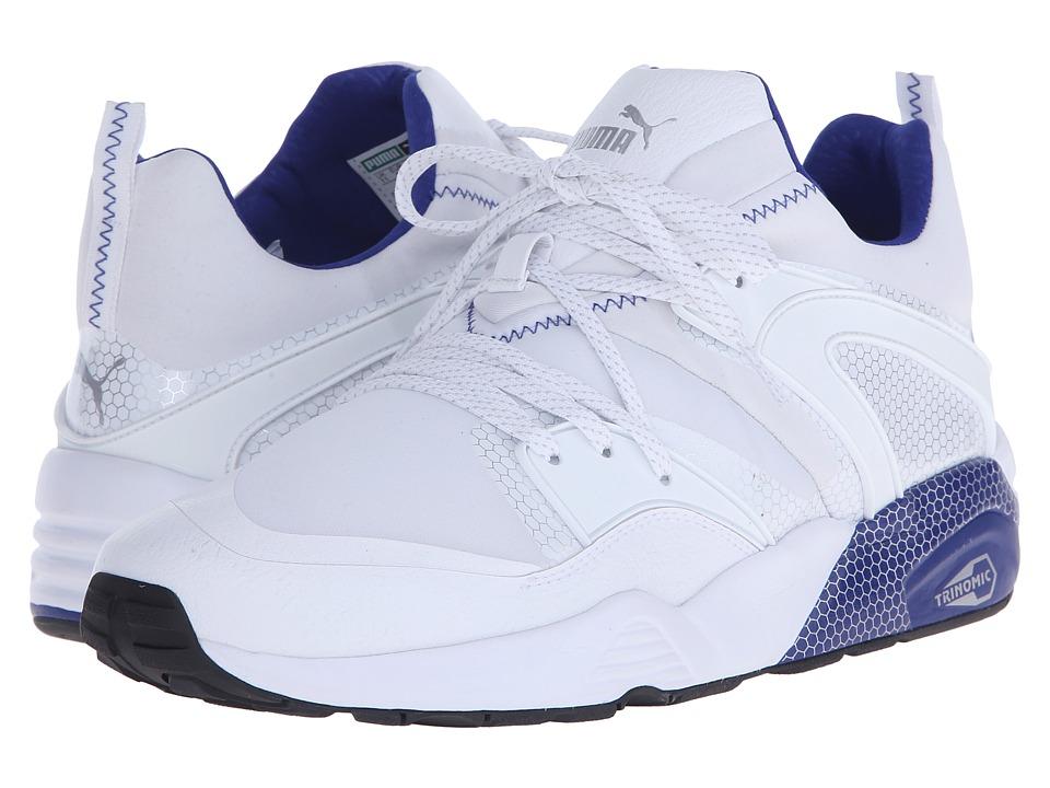 PUMA - Blaze of Glory Core (White/Surf The Web) Men's Running Shoes