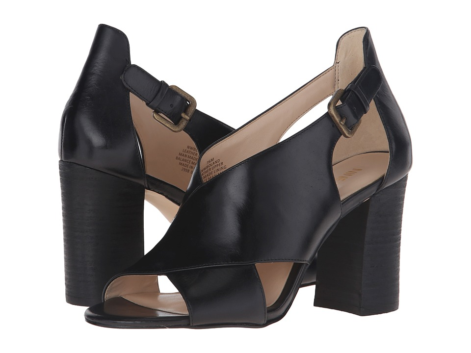 Nine West - Boland (Black Leather) High Heels