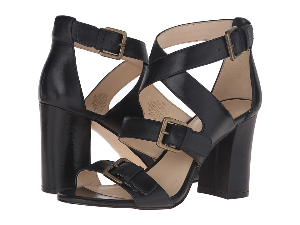 Nine West - Braylee (Black Leather) High Heels