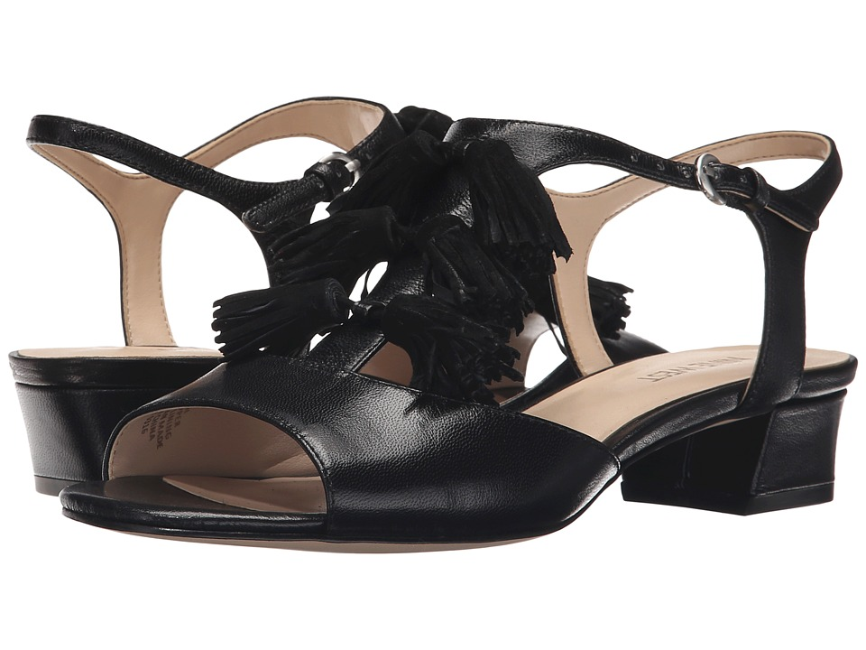 Nine West - Daelyn (Black/Black Leather) Women's Sandals