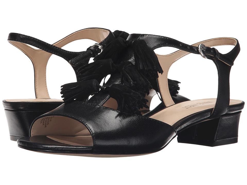 Nine West - Daelyn (Black/Black Leather) Women's Sandals