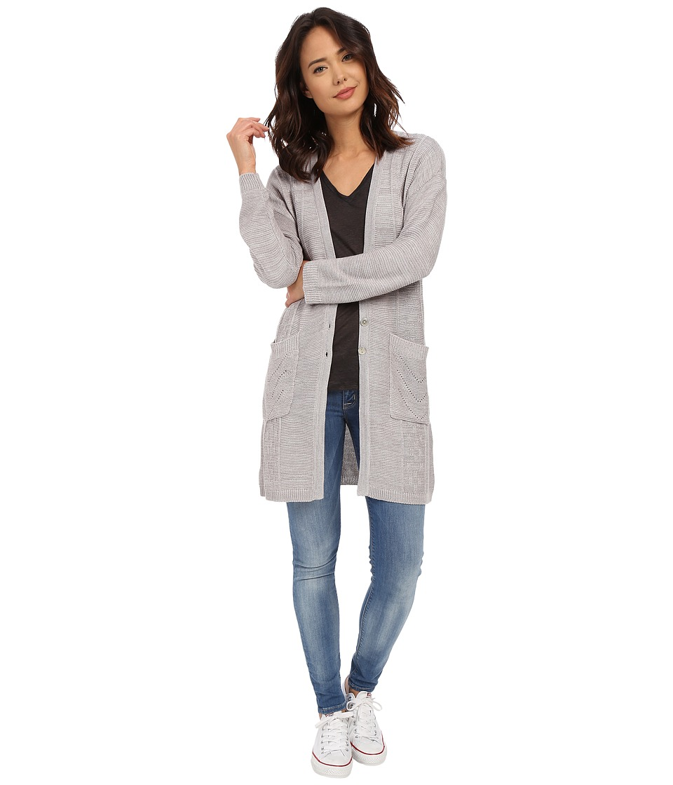 Obey - Duster Cardigan (Grey) Women's Sweater