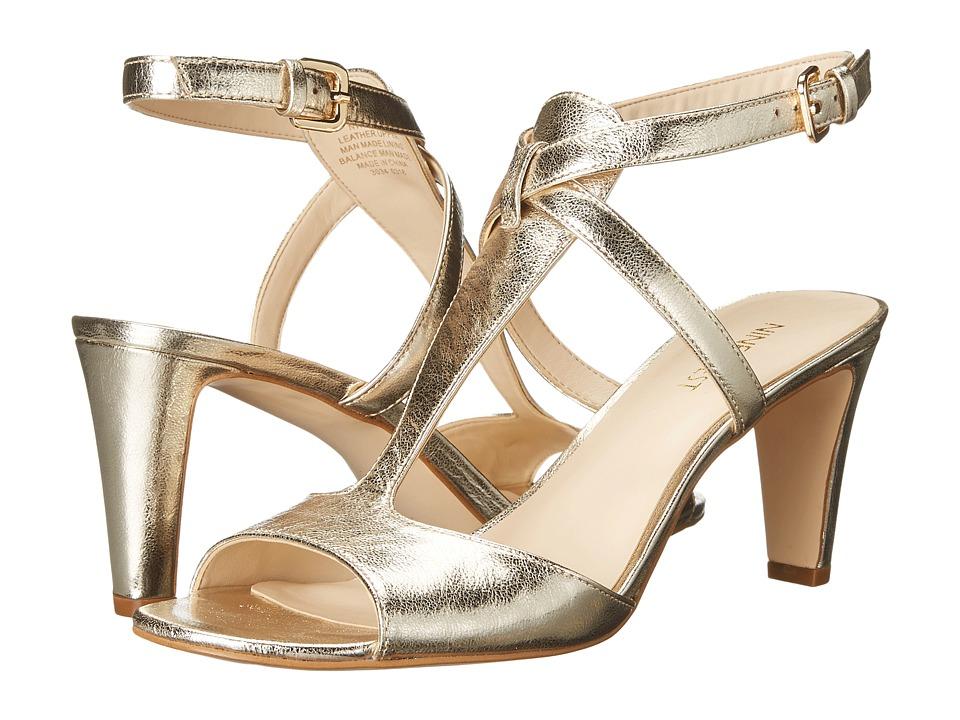 Nine West - Deara (Light Gold Metallic) High Heels