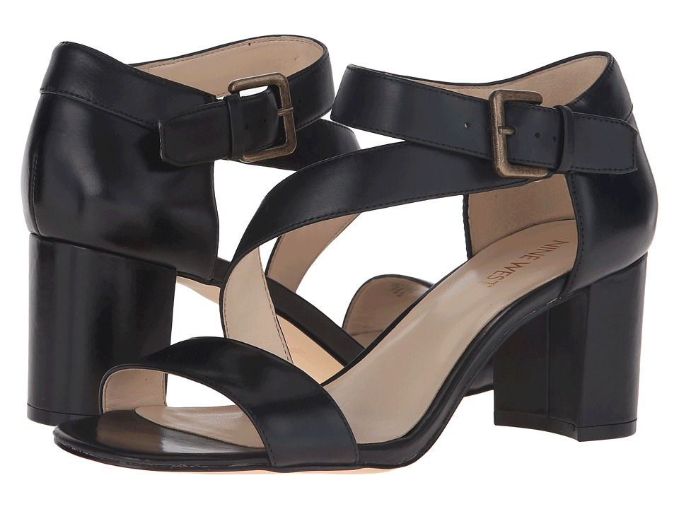 Nine West - Talen (Black Leather) High Heels