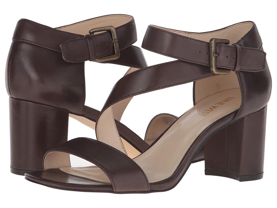 Nine West - Talen (Brown Leather) High Heels