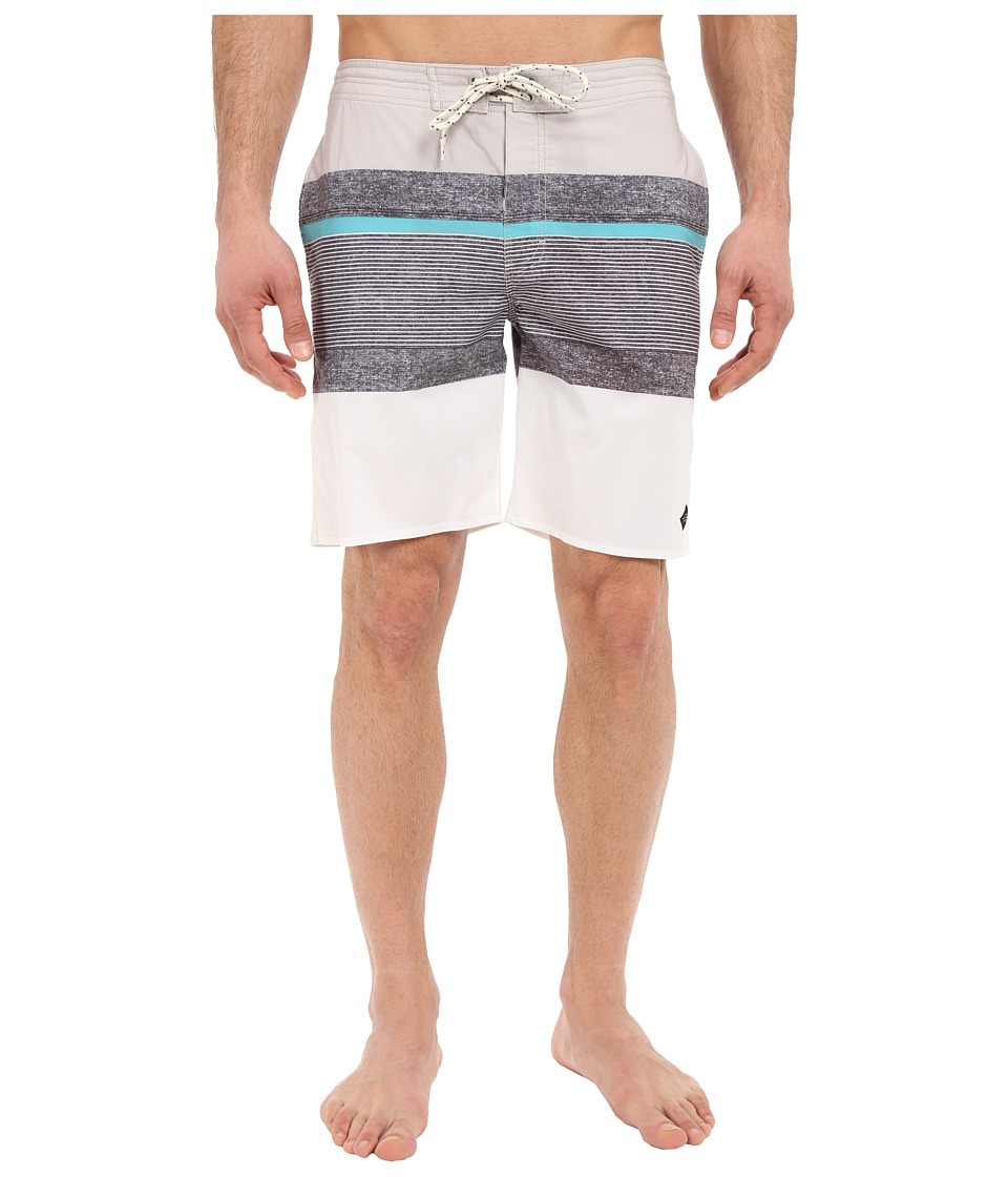 Rip Curl - Rapture Stripe Boardshorts (Grey) Men's Swimwear