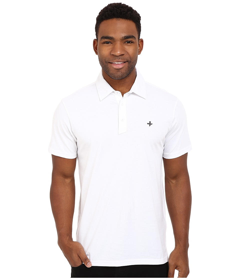 Tavik - Swift Knit Polo (White) Men's Short Sleeve Pullover