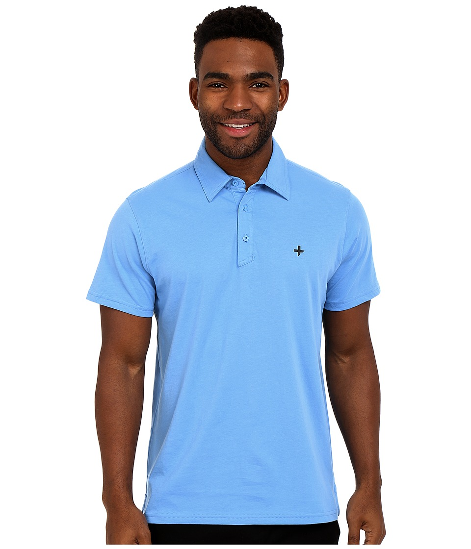 Tavik - Swift Knit Polo (Light Blue) Men's Short Sleeve Pullover