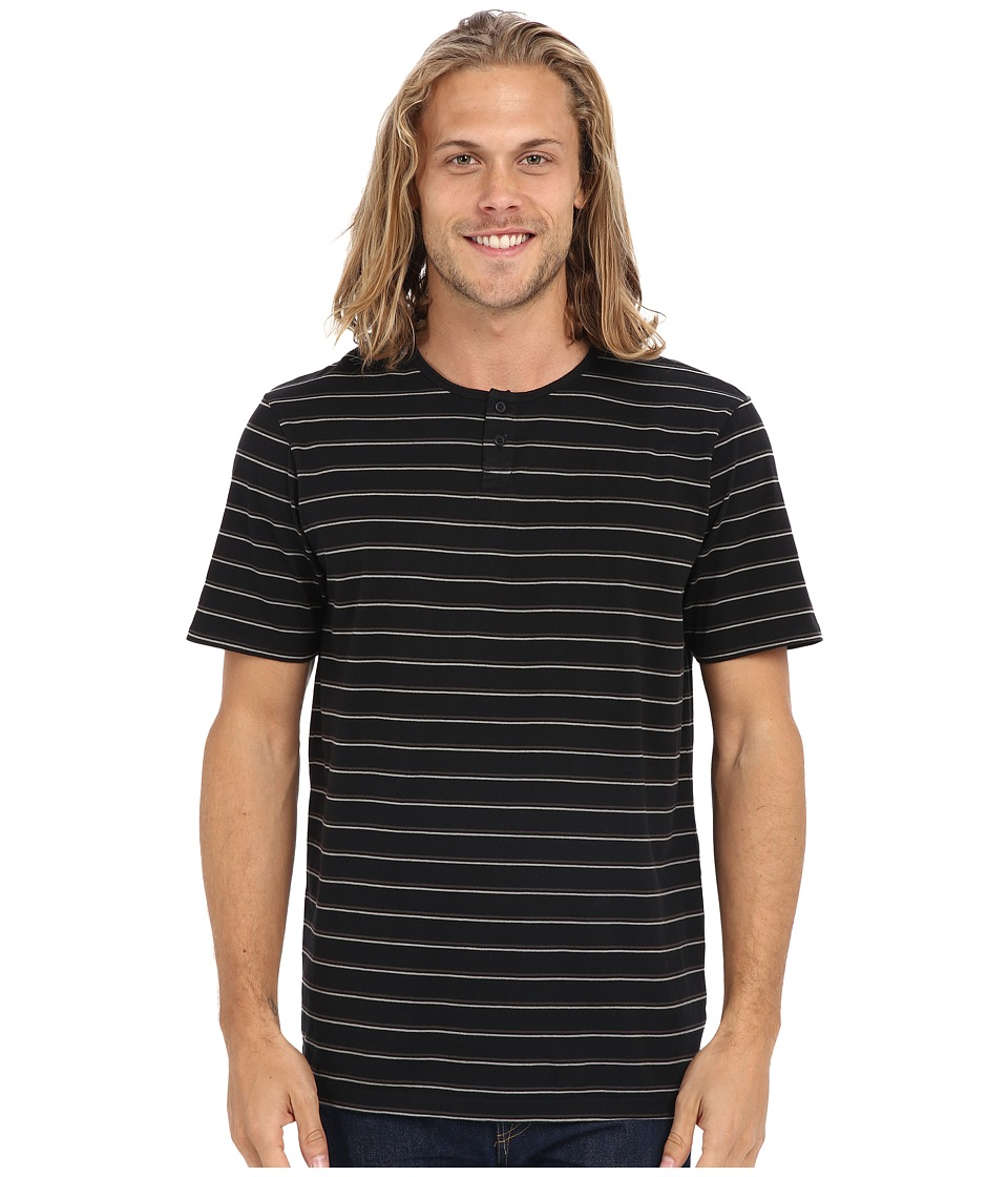 Tavik - Striker Knit (Jet Black) Men's Short Sleeve Pullover