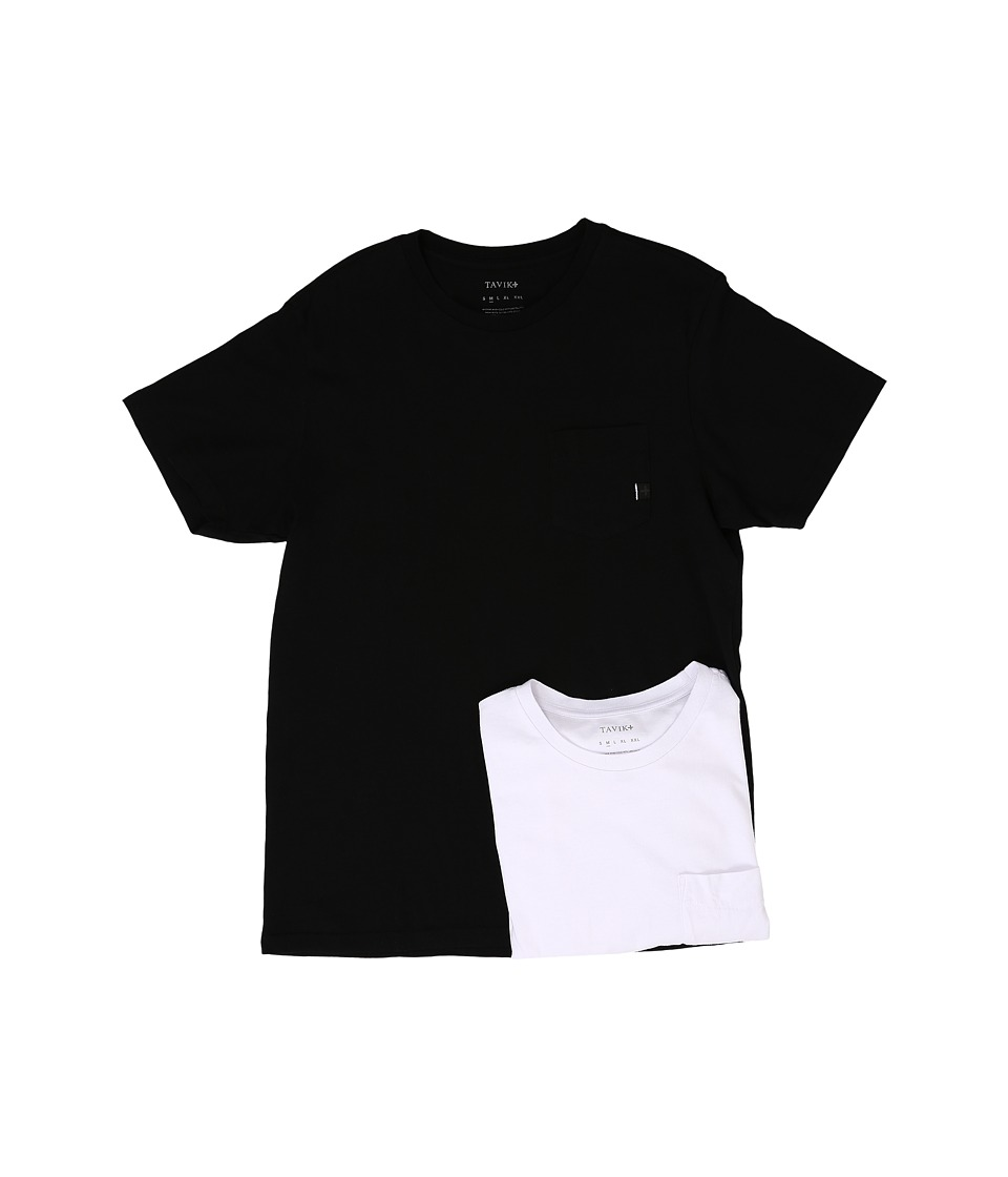 Tavik - 2-Pack Pocket T-Shirt (Black/White) Men's Short Sleeve Pullover