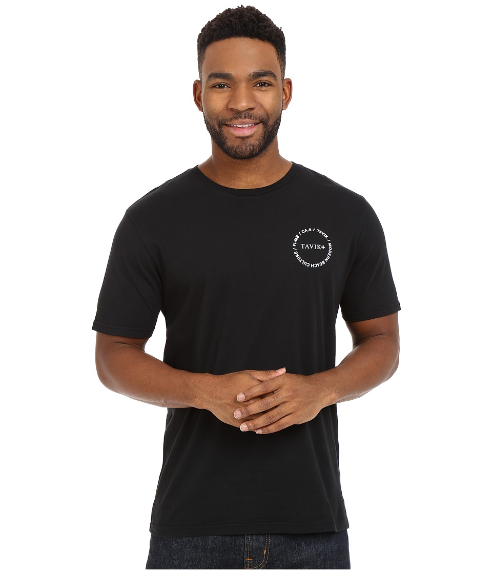 Tavik - Crew T-Shirt (Black) Men's Short Sleeve Pullover