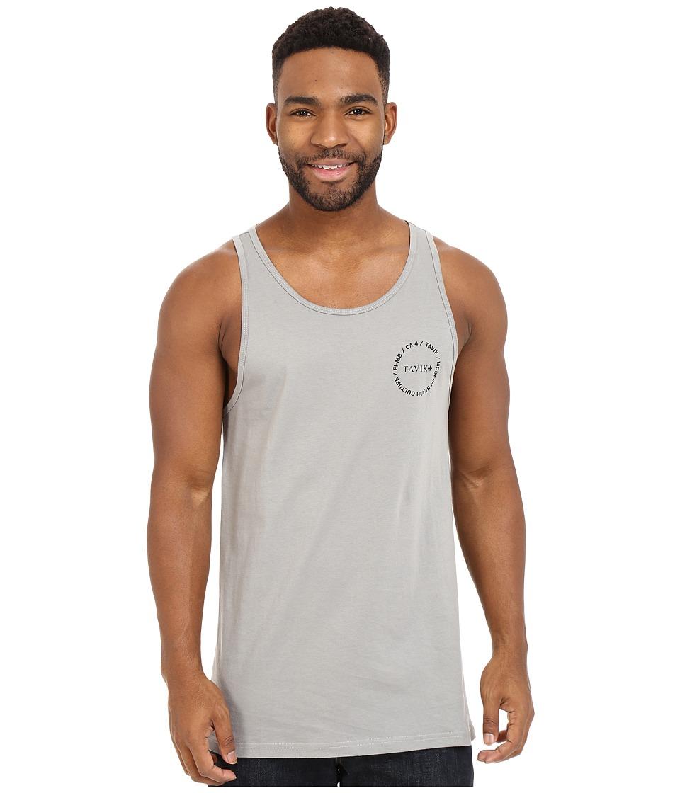 Tavik - Crew Tank Top (Lithium Grey) Men's Sleeveless