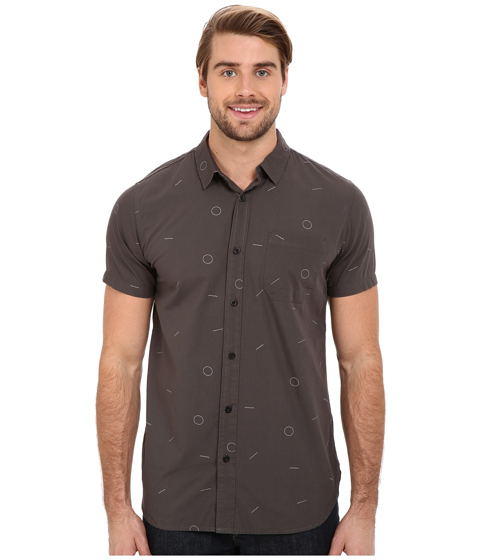 Tavik - Harmon Woven (Raven) Men's Short Sleeve Button Up