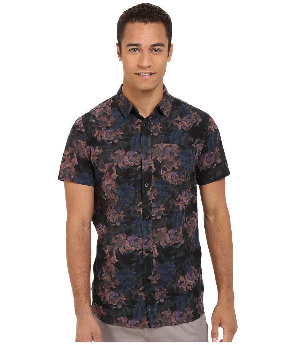 Tavik - Harmon Woven (Floral) Men's Short Sleeve Button Up
