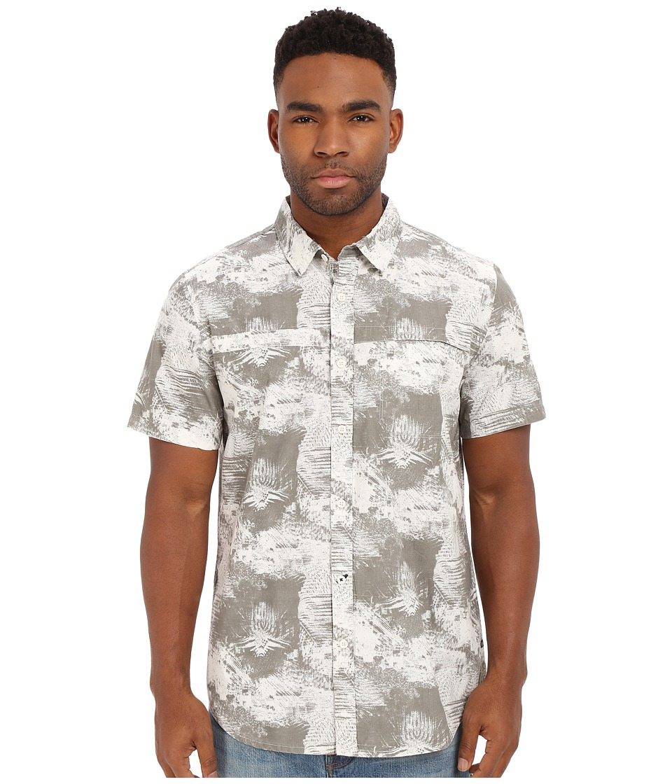 Tavik - Shin S/S Woven (Bone Grey Napalm) Men's Short Sleeve Button Up