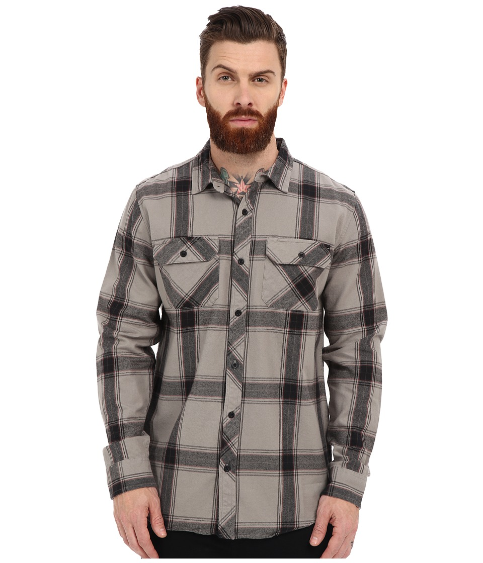 Tavik - Vincent Woven (Lithium Grey) Men's Long Sleeve Button Up
