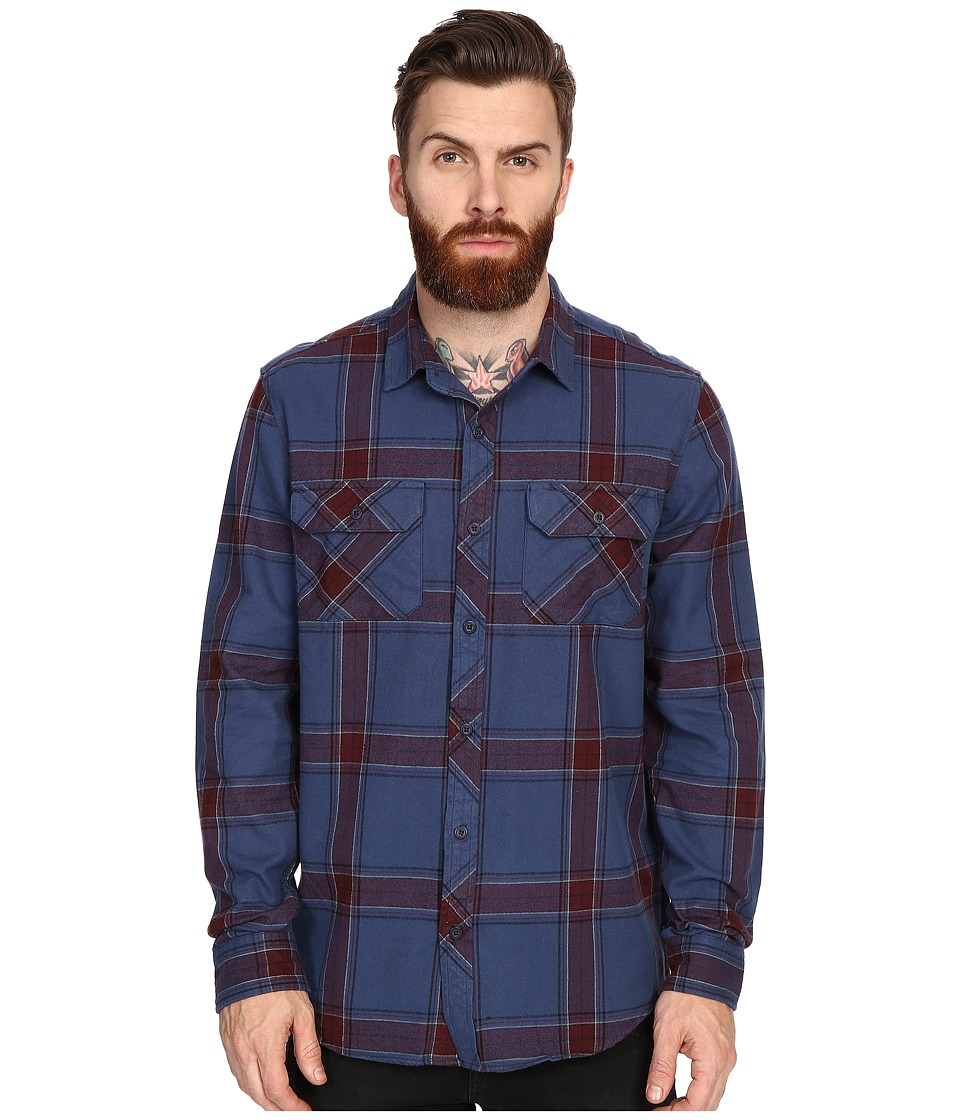 Tavik - Vincent Woven (Night Shade) Men's Long Sleeve Button Up