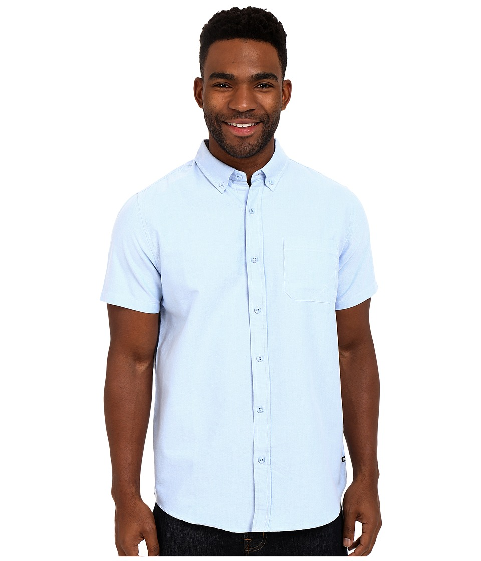 Tavik - Uncle Short Sleeve Woven (Light Blue) Men's Short Sleeve Button Up