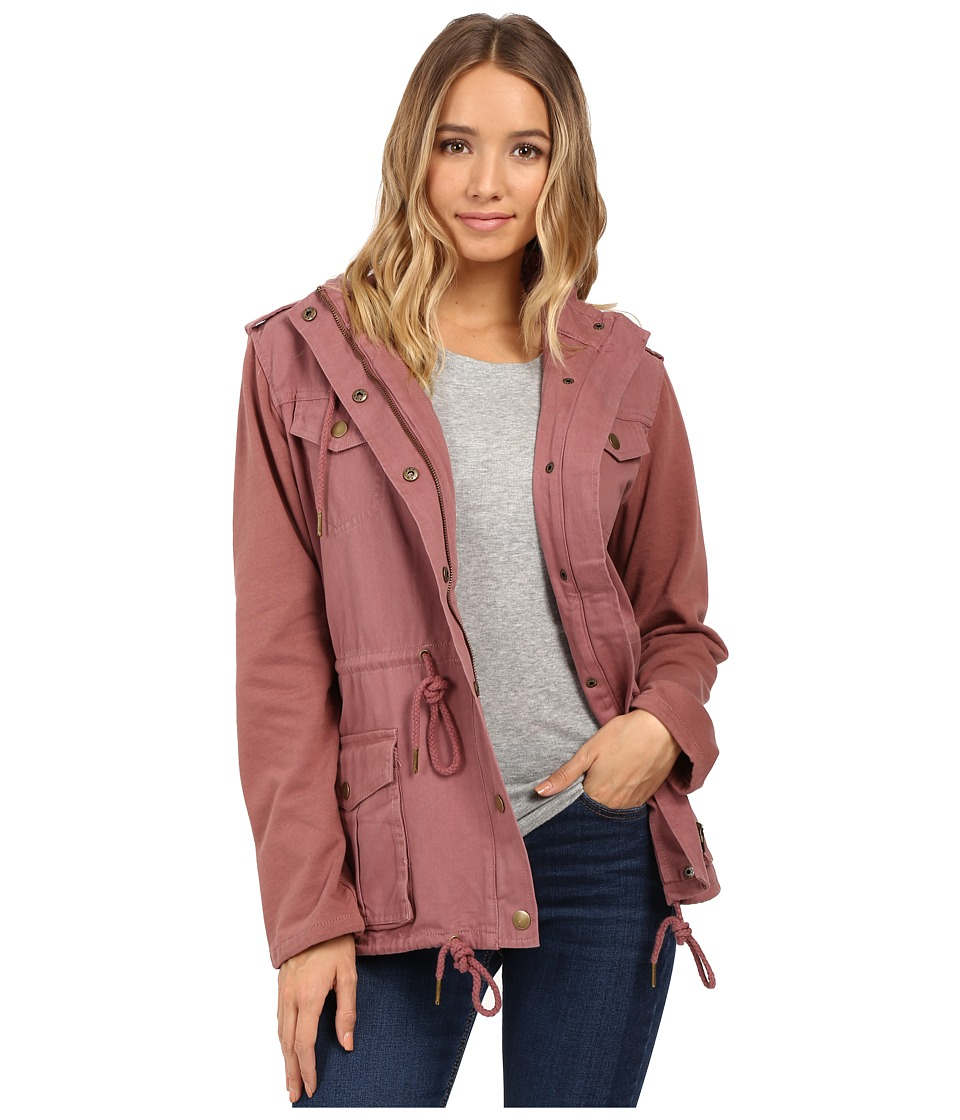 O'Neill - Zelda Jacket (Maroon) Women's Coat