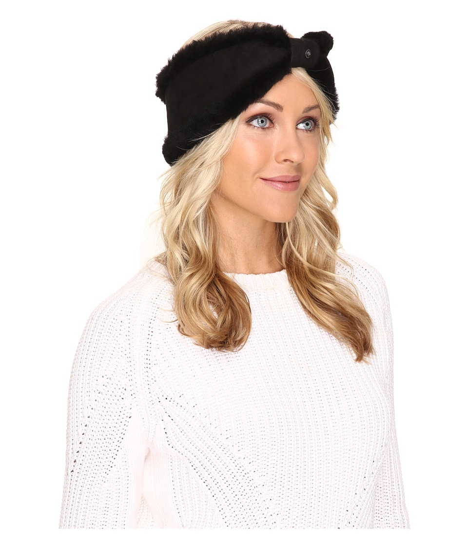 UGG - Carter Bow Headband (Black) Traditional Hats