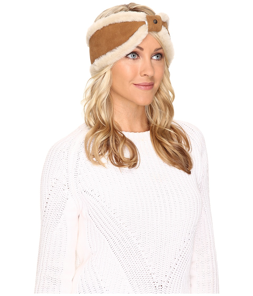 UGG - Carter Bow Headband (Chestnut) Traditional Hats