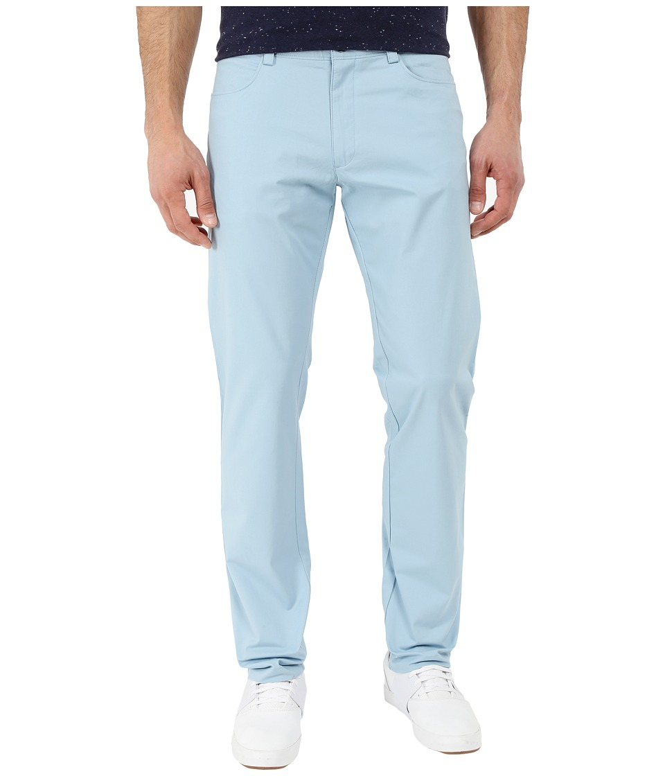 Calvin Klein - Slim Fit Bowery 4 Pocket Brushed Pant (Aqua Stone) Men's Casual Pants