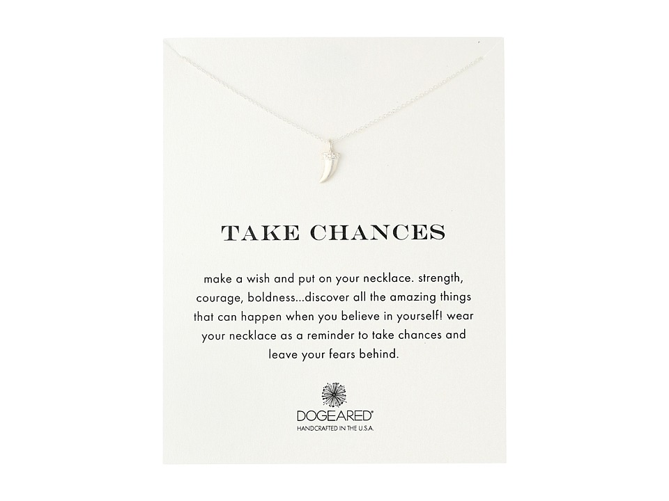 Dogeared - Take Chances Horn Reminder Necklace (Sterling Silver) Necklace