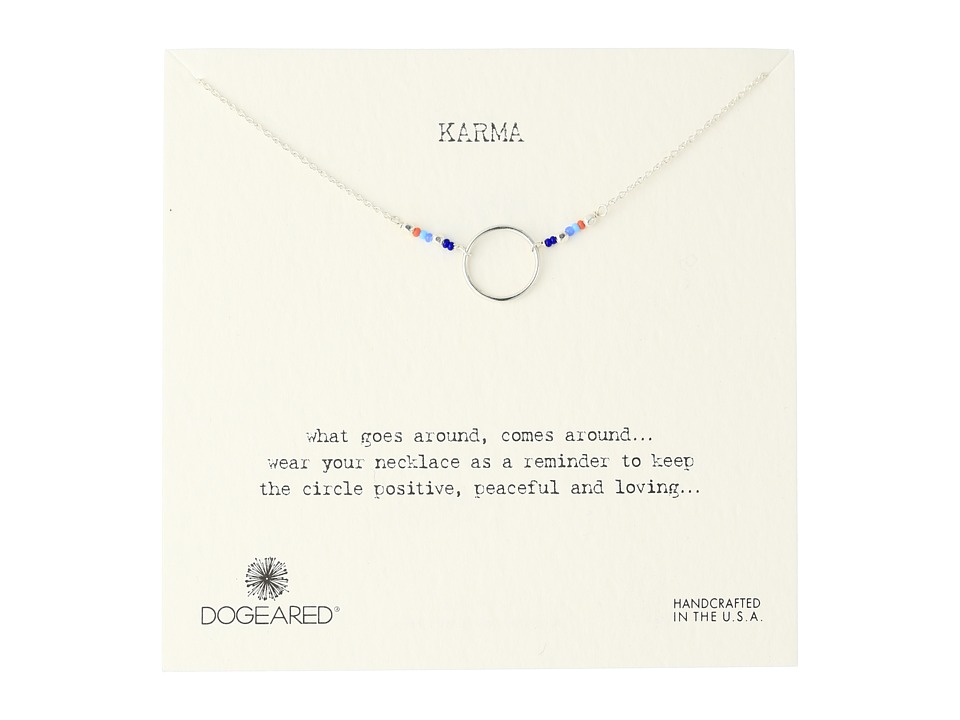 Dogeared - Karma Mixed Seed Bead Necklace (Sterling Silver) Necklace
