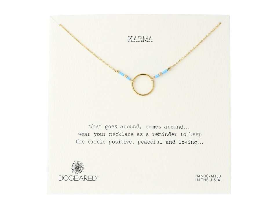 Dogeared - Karma Turquoise Seed Bead Necklace (Gold Dipped) Necklace